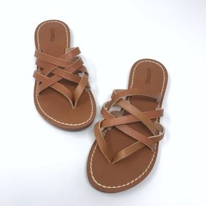 New Soludos Strappy Sandals Leather Tan Size 6